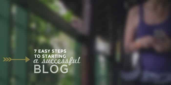 7 Steps to Starting a Successful Blog | Ready to start your blog but not sure what to do? There's just a handful of things you need to start a blog with WordPress quickly and easily. Click through for all the steps!