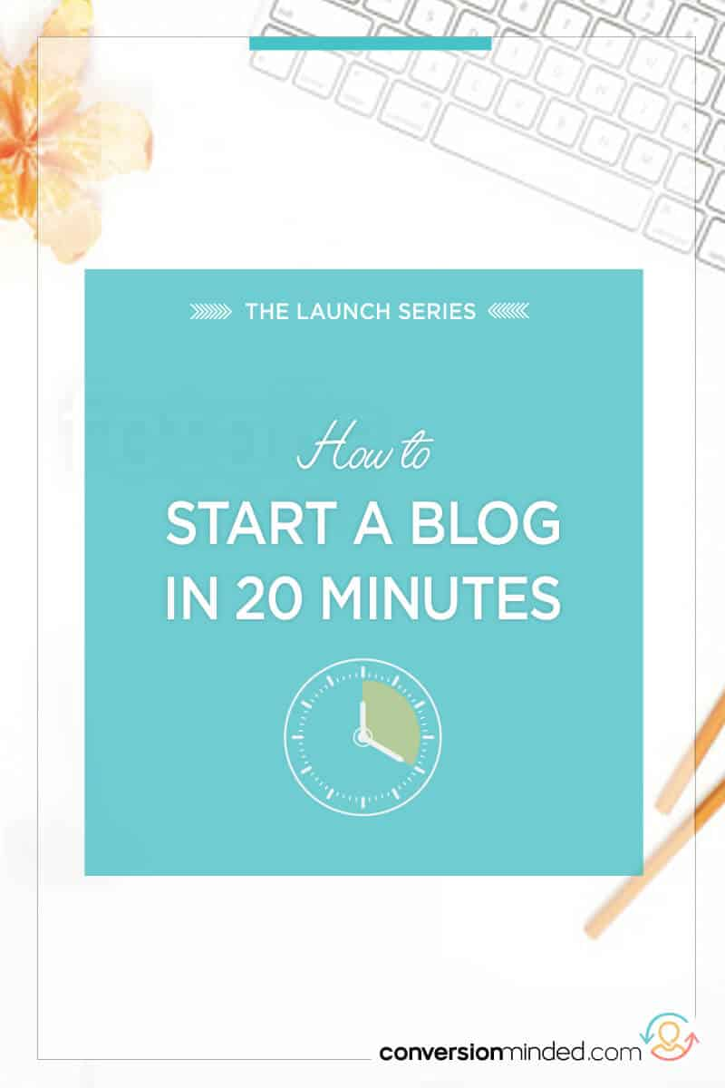 How to Start a Blog in 20 Minutes | Ready to start your blog but not sure what to do? There's just a handful of things you need to start a blog with WordPress quickly. Click through to get started!