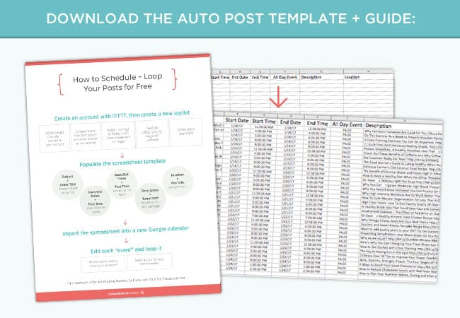 Want to schedule social media posts like a pro? Download the Social Media Auto Post Schedule Template and Guide