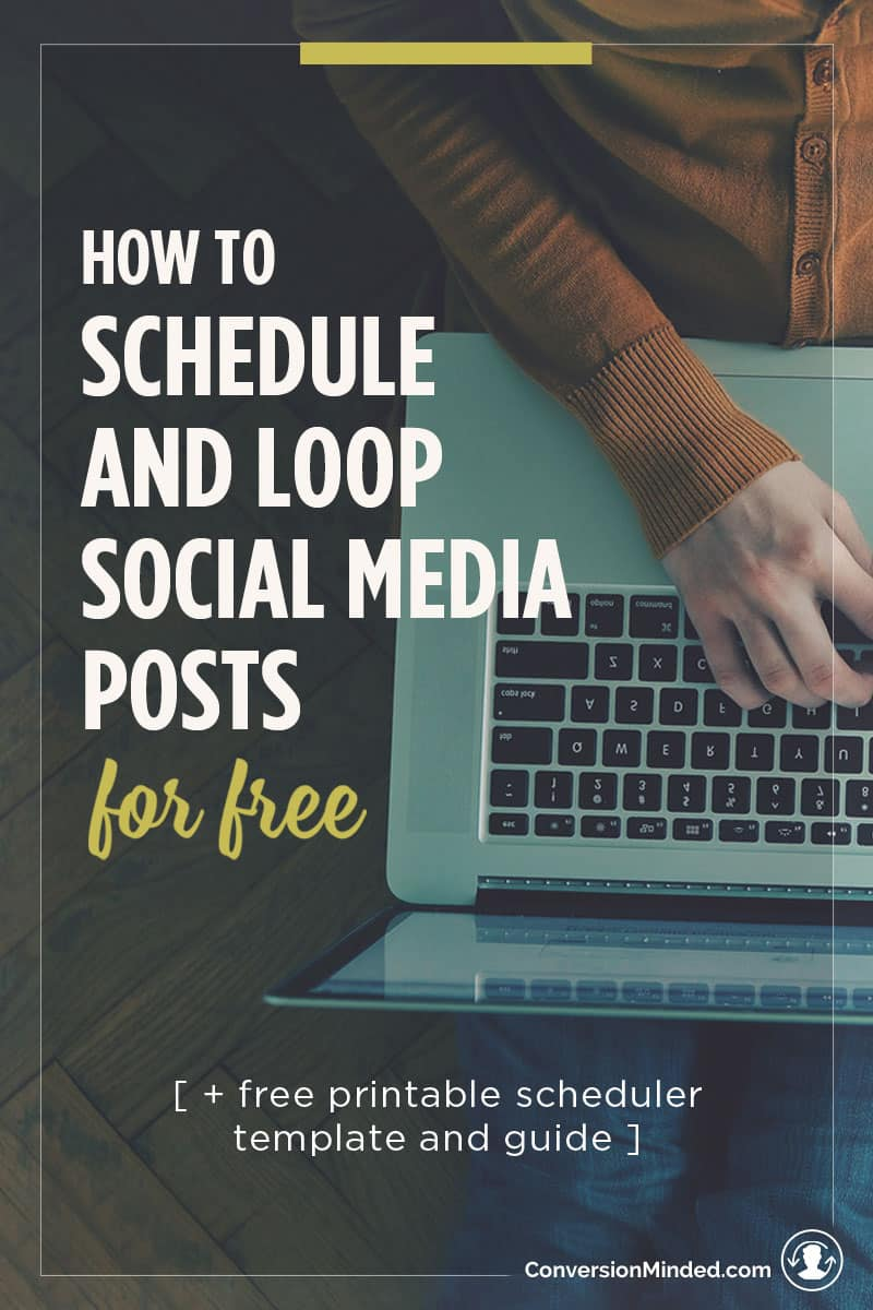 Want to schedule social media posts but don't have a big budget for tools like Edgar or Buffer? This post is perfect for entrepreneurs and bloggers to help you automate and loop your posts like a pro, for free. Click through to watch the video and download the necessary files to set it up!