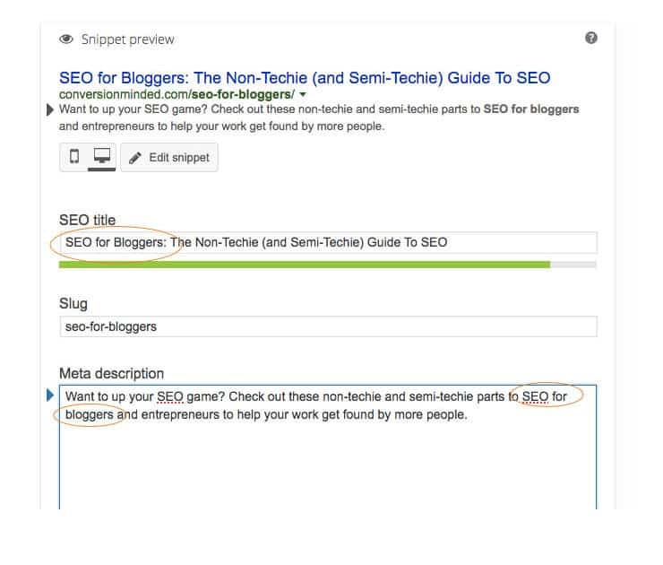 Blogging for SEO tip: use Yoast SEO to optimize your content.