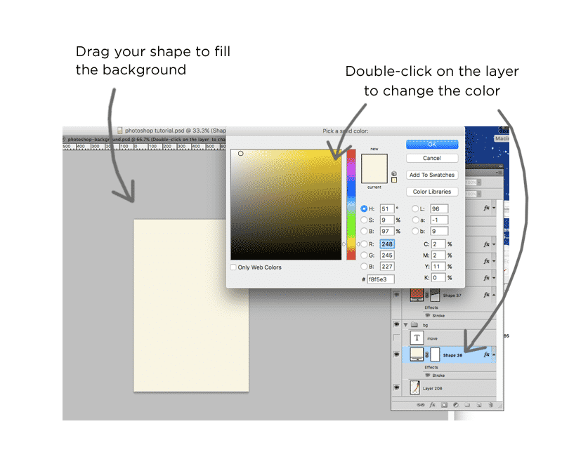 Graphics tutorial: Adding a background and changing color in Photoshop