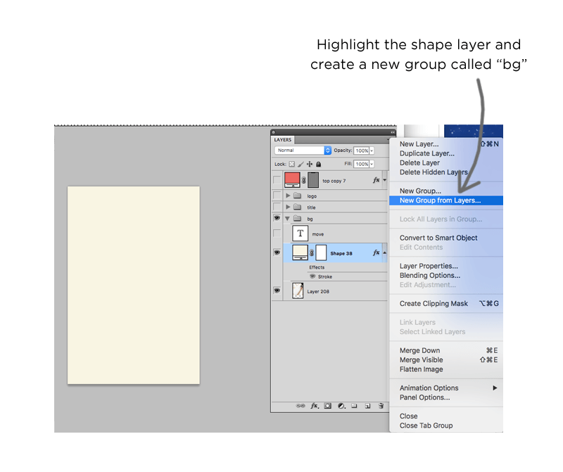 Graphics tutorial: Working with layers and layer groups in Photoshop
