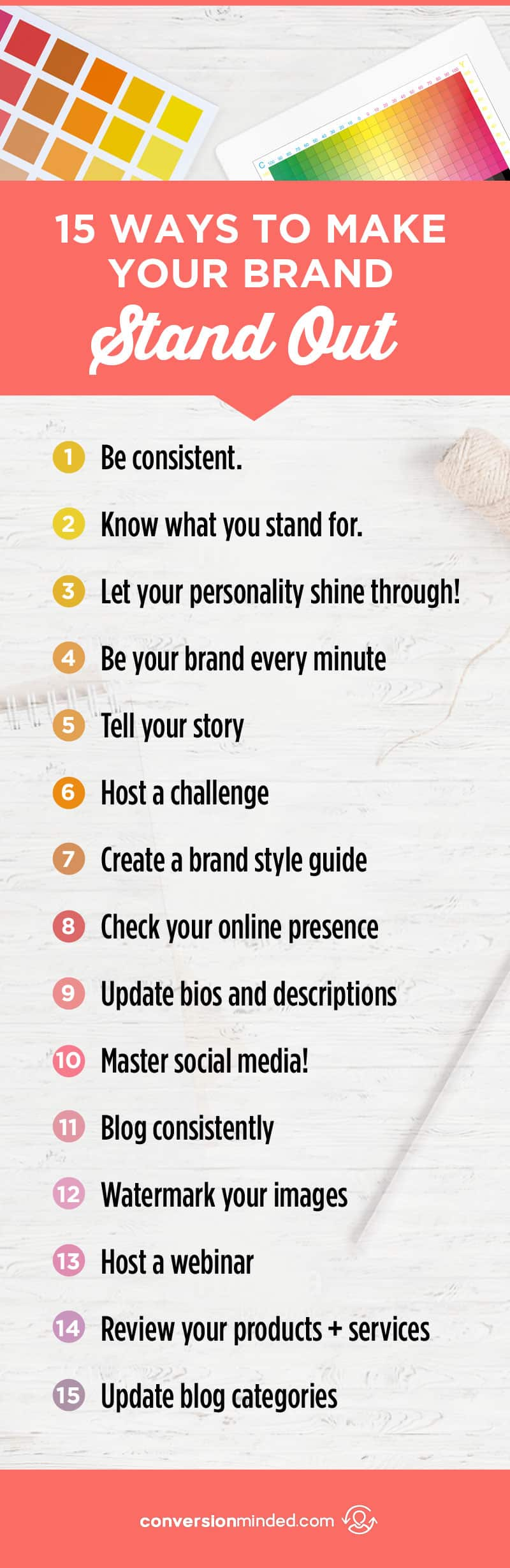 15 Ways to Make Your Brand Stand Out | Struggling to attract your dream customers? Ready to stand out and get noticed online? This post was created just for you. It include 15 things bloggers and entrepreneurs can do to stand out above the rest and effortlessly attract your ideal customers. Click through to see all the tips!
