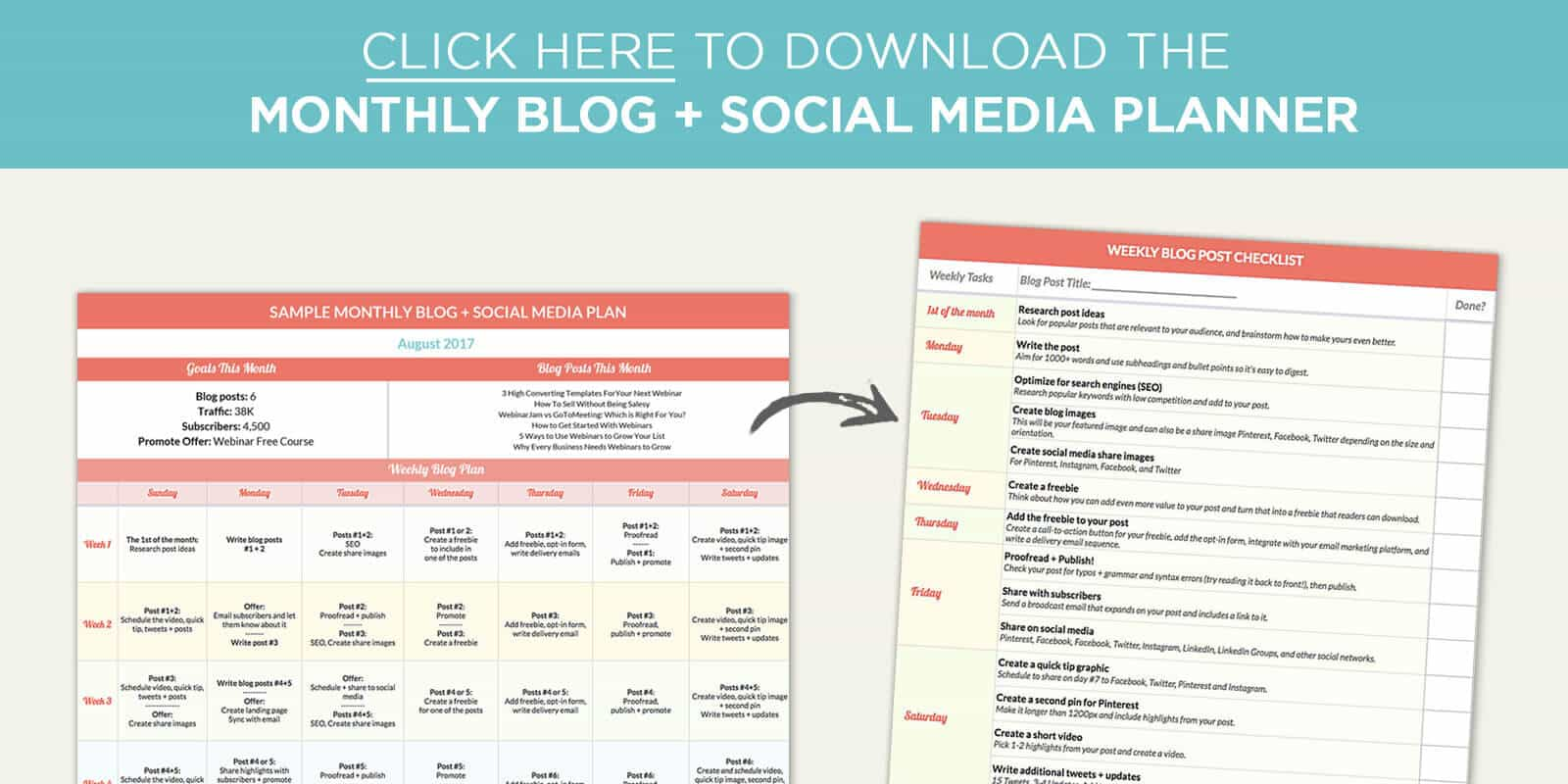 Share on facebook tweet this post pin images to pinterest - Social Media Planning Template