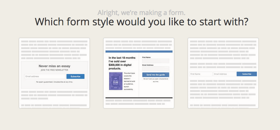 How to create your first form in ConvertKit. Woo!