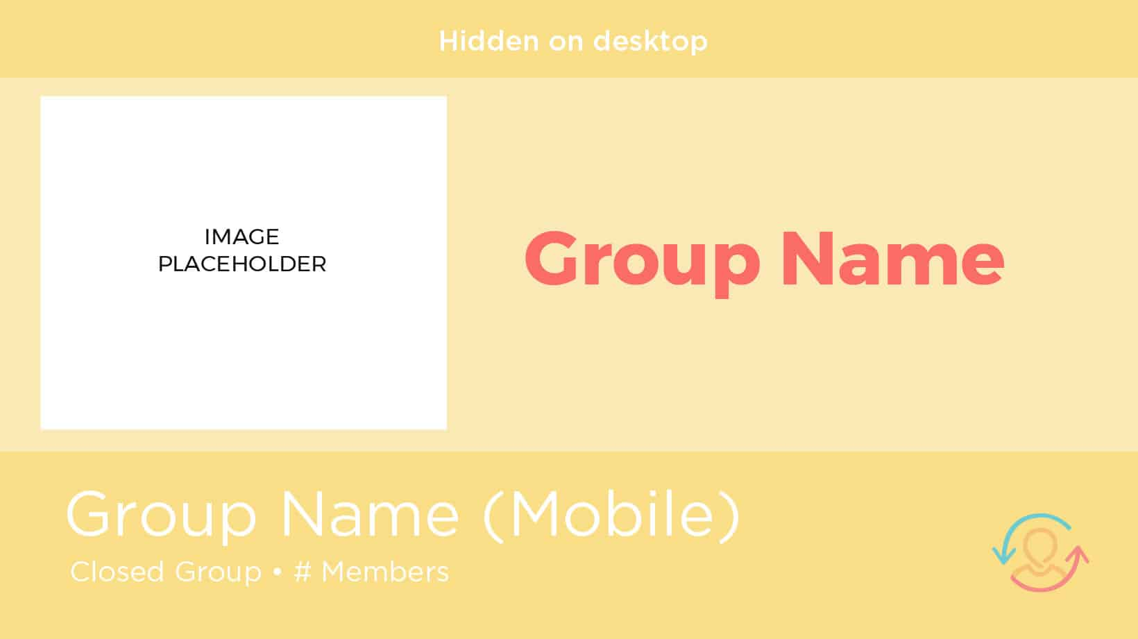 Facebook group cover photo template