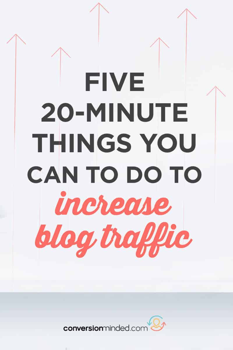 Want to get more traffic to your blog? I've got 5 easy-peasy ways to do it! Click through to see them all.