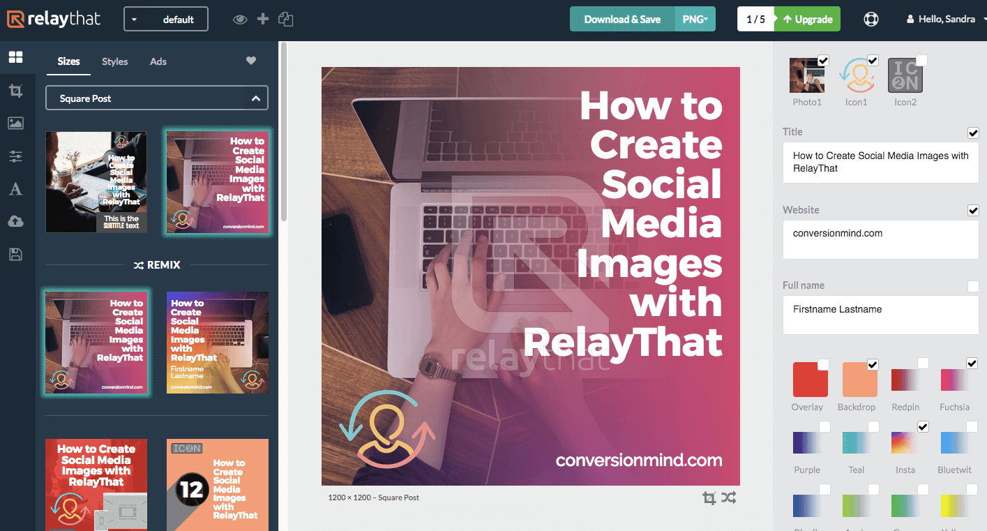 RelayThat is an easy design tool for creating content for your marketing calendar template.