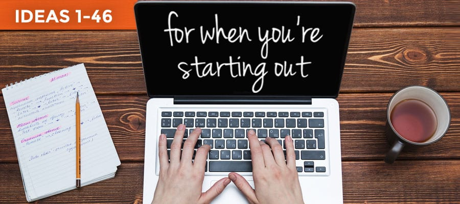 Start with these ways to market your online business when you're starting out.