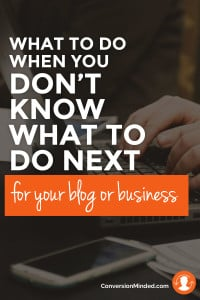 What to do next for your blog or business