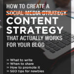 If you feel like you're spinning your wheels with your blog and you want some tips on how to work it really work for your long term business goals, this post is for you! It includes 16 content strategy and social media tips for bloggers to help you attract more of your ideal readers. Click through to see all the tips!