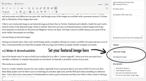 Blog post checklist #10: include a featured image
