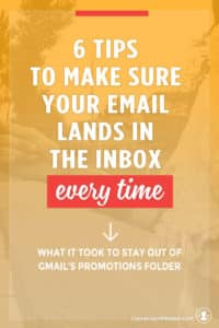One of the biggest things that affects open rates isn't your subject line - it's whether or not your newsletter ever makes it to subscribers. Here are 6 tips to help entrepreneurs and business owners craft emails that land in the inbox instead of junk folder or Gmail promotions folder. Click through to see all the tips!