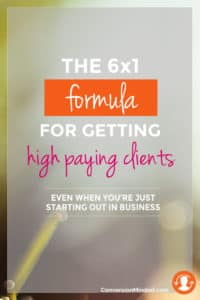 Here's a 6x1 formula for entrepreneurs and business to help you close the loop on building a base of perfect clients who are hugely profitable for your business, so you don't have to worry about where your next client is coming from. Click through to find out about the six Ones!