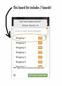 drive traffic with pinterest - select board lists