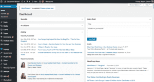 How to Start and Launch a Blog: Step 5. Site Dashboard
