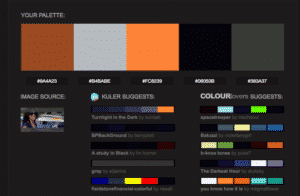 Pictaculous - color palette generator from an image