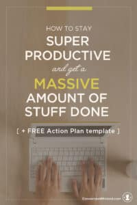 """Ready to turn your to-do list into a Get-It-Done Action Plan? This post will help! It's a simple guide for entrepreneurs and business owners to help you prioritize goals, and identify specific tasks to achieve them. It also includes my secret """"increase productivity"""" weapon – the Time Block Template. Use it to create a visual calendar so you know exactly what to do to each week. Click through to see the whole guide!"""