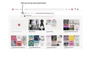 Social Media Strategy Tip: Create secret boards on Pinterest to use as a source library of content to share.