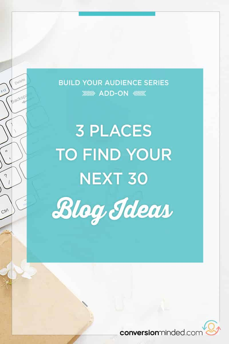 3 Places to Find Unique Blog Topic Ideas   Stumped with what to write? I've got you covered! Here are my top 3 places for entrepreneurs and bloggers to find blog ideas that will drive tons of traffic to your content.