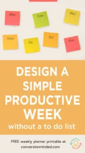 Weekly planner printable and tips to help you increase productivity