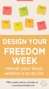 Weekly planner to help you increase productivity