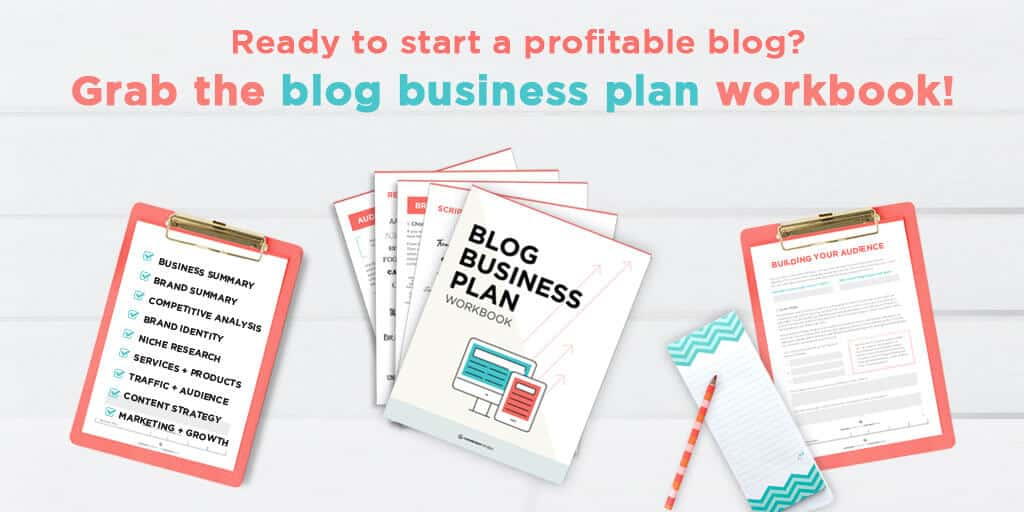 Blog Business Plan Workbook by Sandra at ConversionMinded