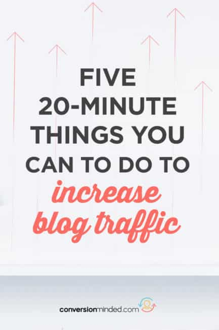 Want to get more traffic to your blog? I've got 5 easy peasy ways to do it! Click through to see them all.