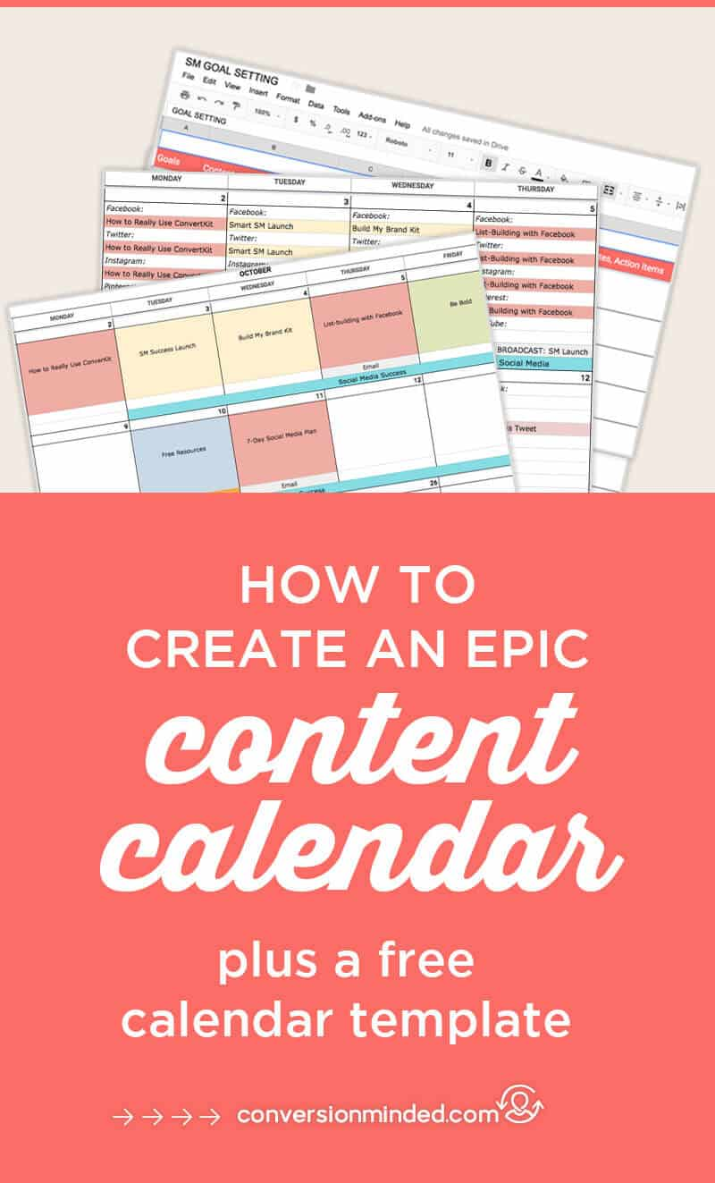 Free Content Calendar Template for 2018 | Having a hard time figuring out what to share on social media? Use this content calendar template to help you stay consistent and keep track of your promotions. #ContentCalendar #blogging #SocialMediaCalendar #socialmediatips