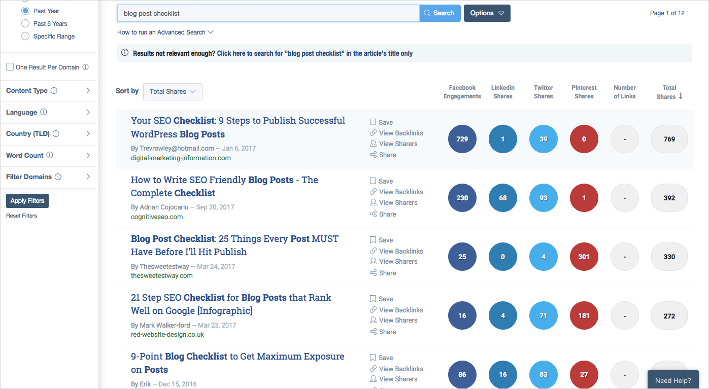 how to become a blogger with an incredible online community using BuzzSumo.