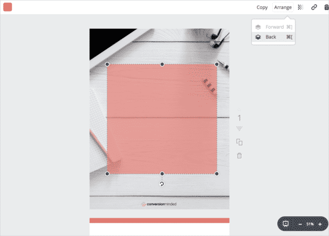 It's easy to arrange your graphic elements and create powerful blog posts examples.