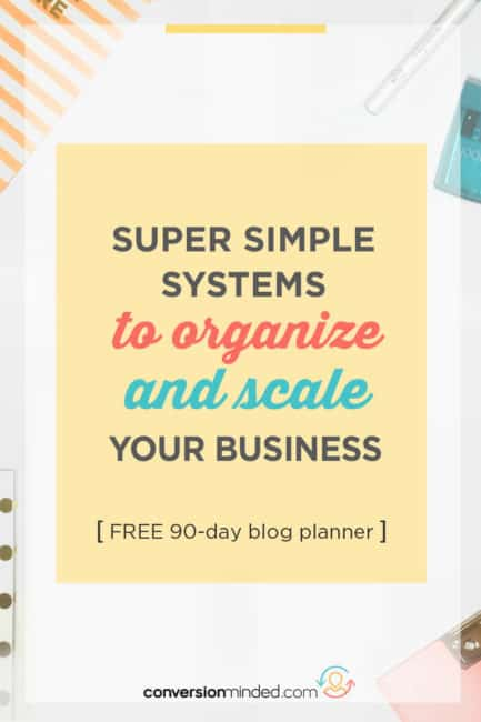 Simple productivity systems for busy bloggers to help you streamline and scale your business! It includes time management tips, goal planning ideas, goal planning tips for bloggers, business goal setting, and productivity hacks to help you get more done in less time, plus a free goal setting planner.