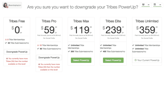 Tailwind Tribes PowerUps Pricing