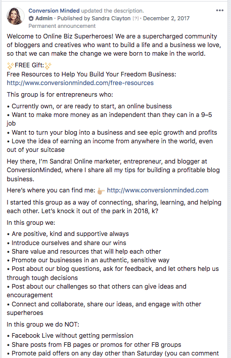 Promote Facebook Group