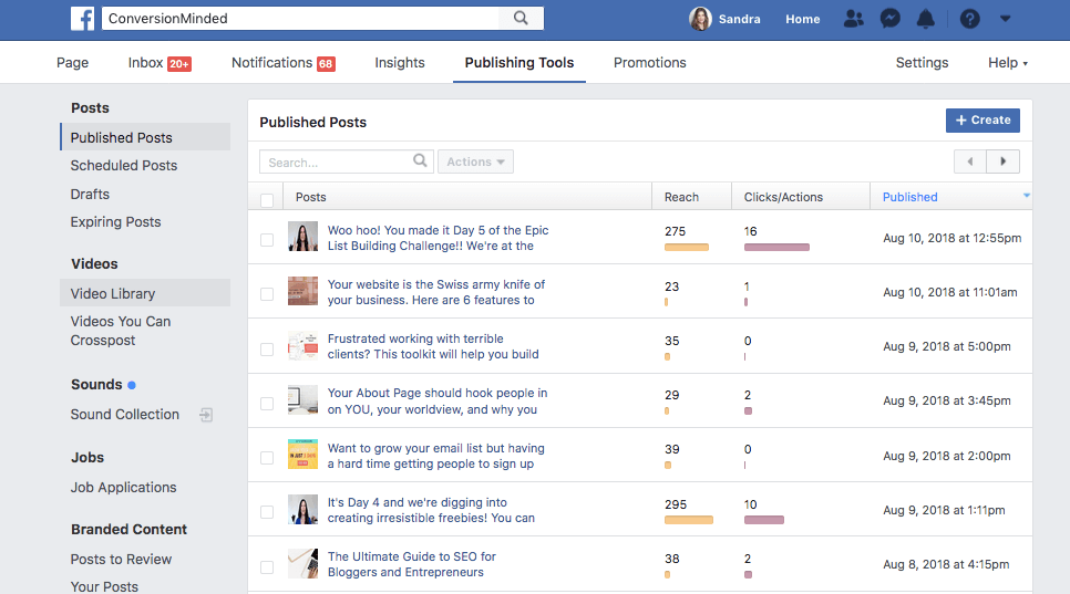 Facebook Page Publishing Tools Video Library