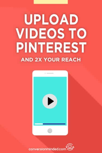 Want to ramp up your Pinterest marketing? Uses video pins! Here's how to upload videos to Pinterest (plus why you should do it vs. share videos from YouTube). Part of my Pinterest Growth series. Click through to start uploading videos and doubling your reach on Pinterest!