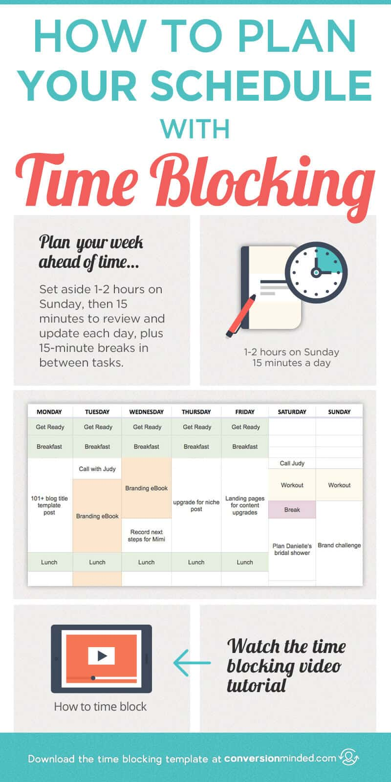 plan your day template