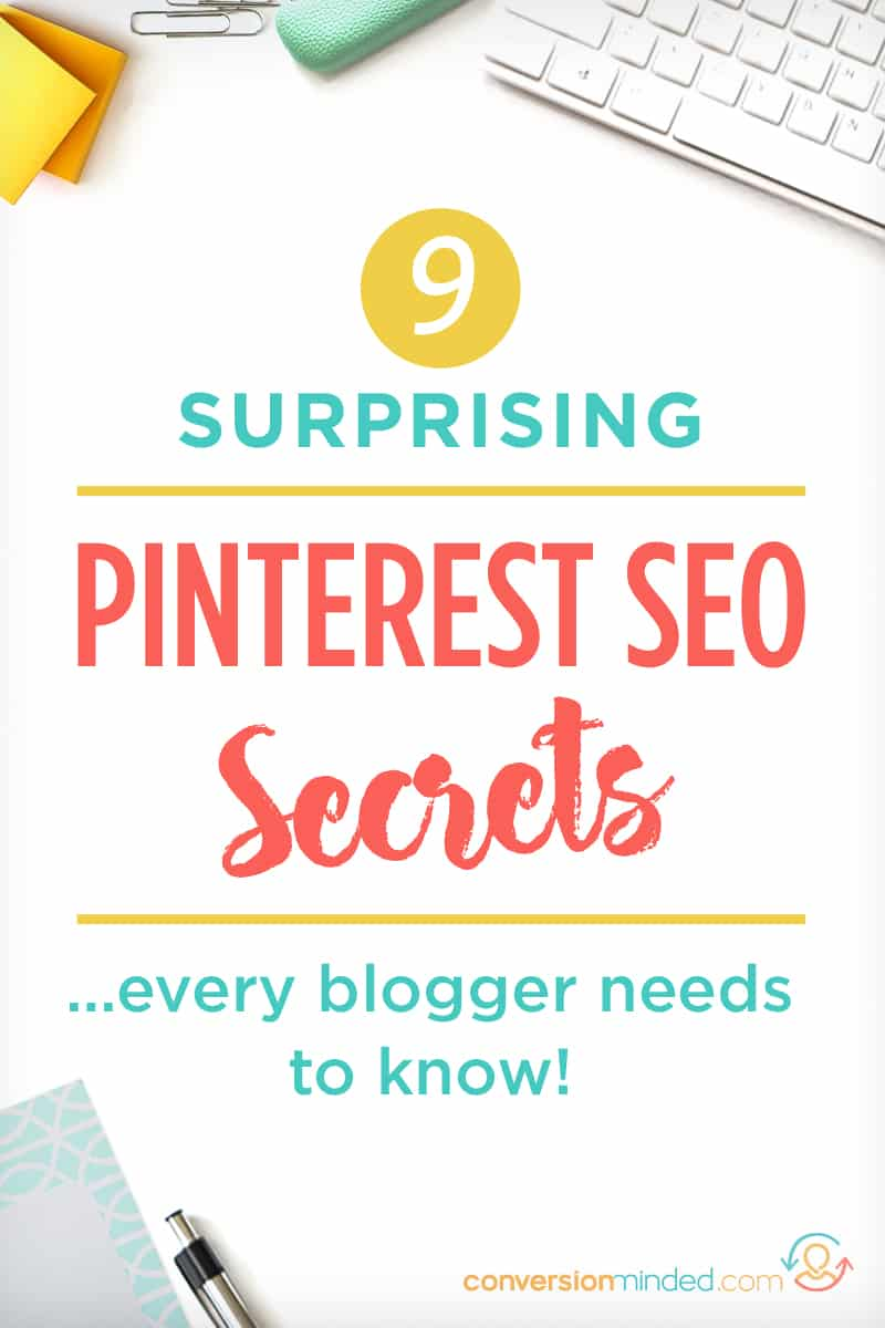 9 Pinterest SEO Secrets Every Blogger Should Know / Want to know how to use Pinterest for Business? This post is for you! It includes a complete Pinterest growth guide with SEO tips and tricks for bloggers. Pinterest fundamentals, Pinterest hacks, and more for bloggers. Click through to see all the steps!