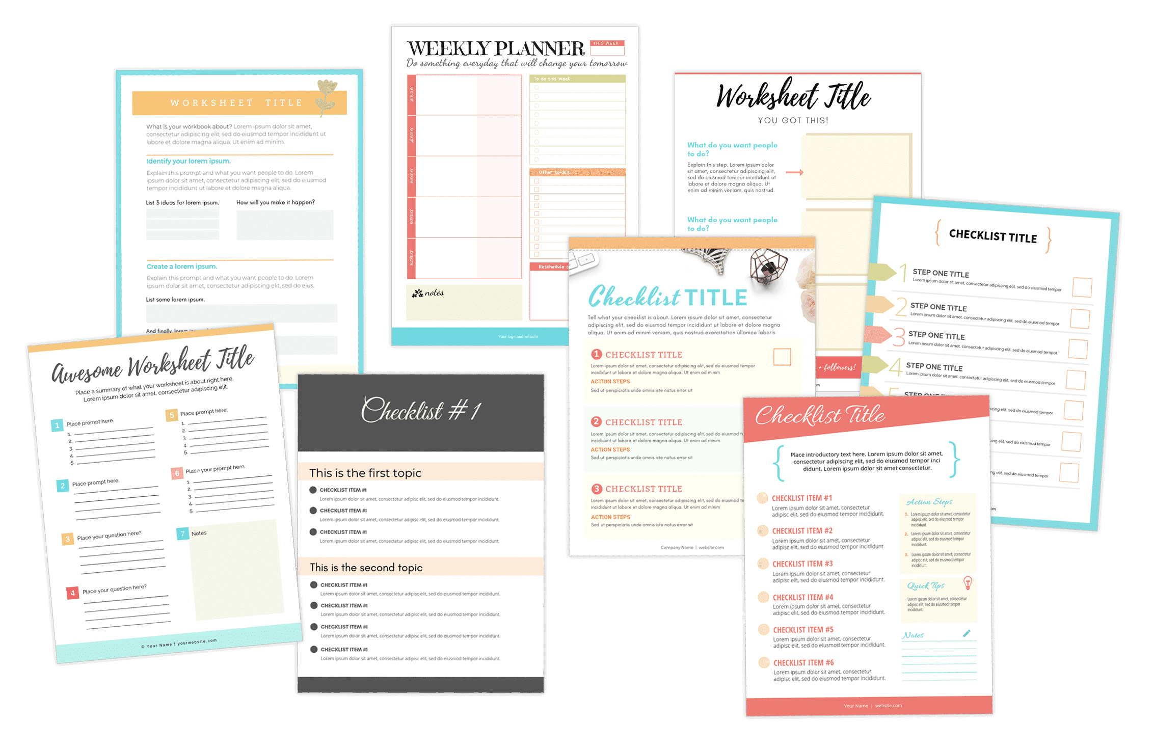 Free workbook and checklist templates to build your email list!