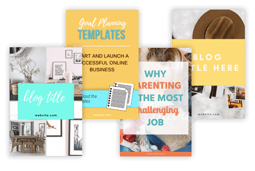 Pinterest Pin Templates made in Canva by ConversionMinded
