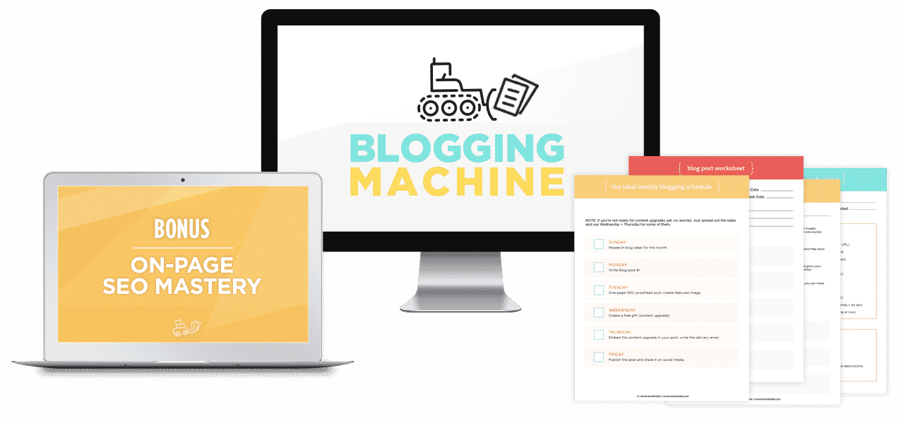 The Blogging Machine by Sandra at ConversionMinded