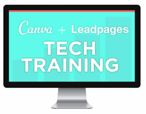 Canva + LeadPages tech training
