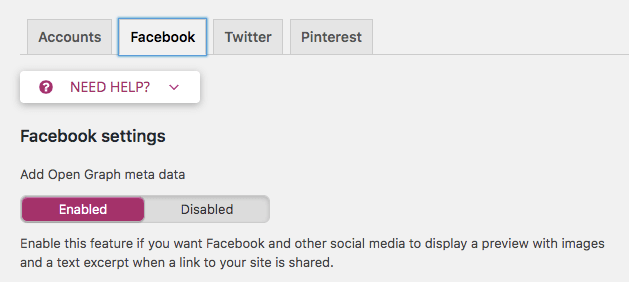 Facebook OpenGraph settings in Yoast SEO