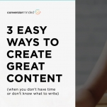 create a content strategy