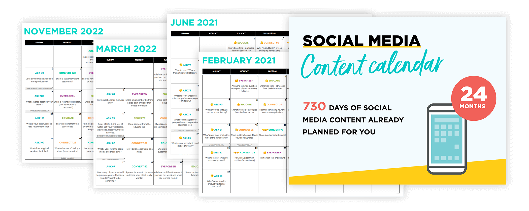 Content Calendar System by Sandra Clayton, ConversionMinded