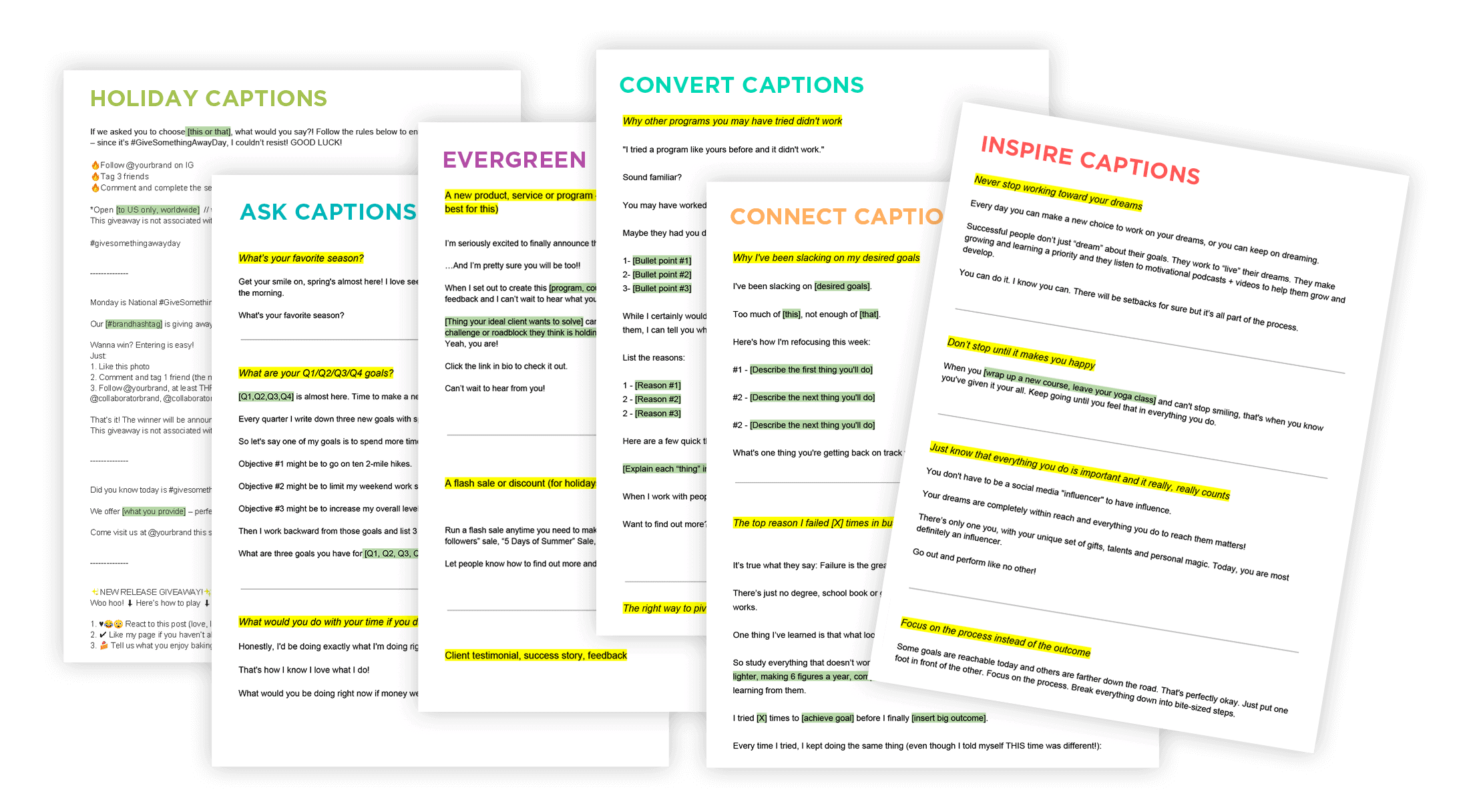 Content Calendar System | Caption Templates by ConversionMinded