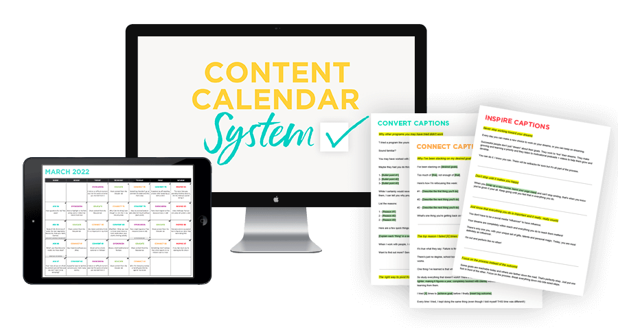 The Content Calendar System by Sandra at ConversionMinded