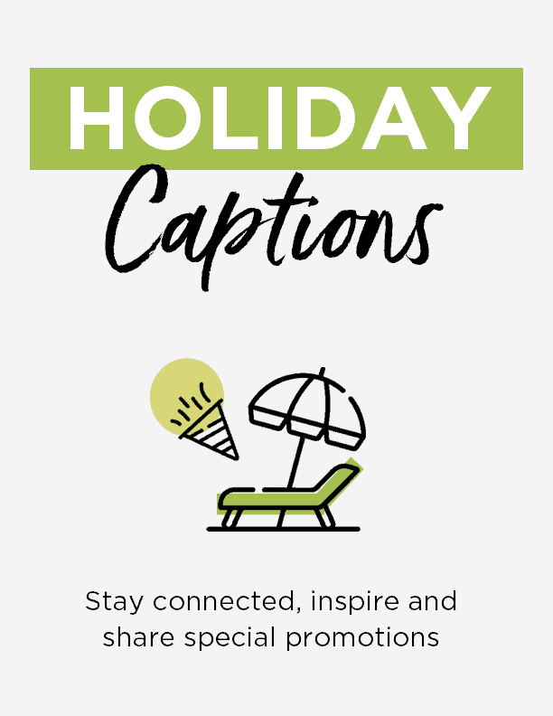 Holiday captions